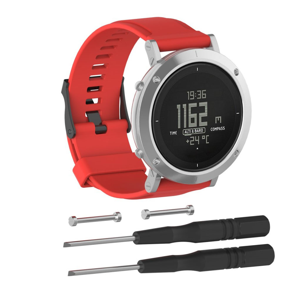 Image of   Suunto Essential silicone watchband - Red