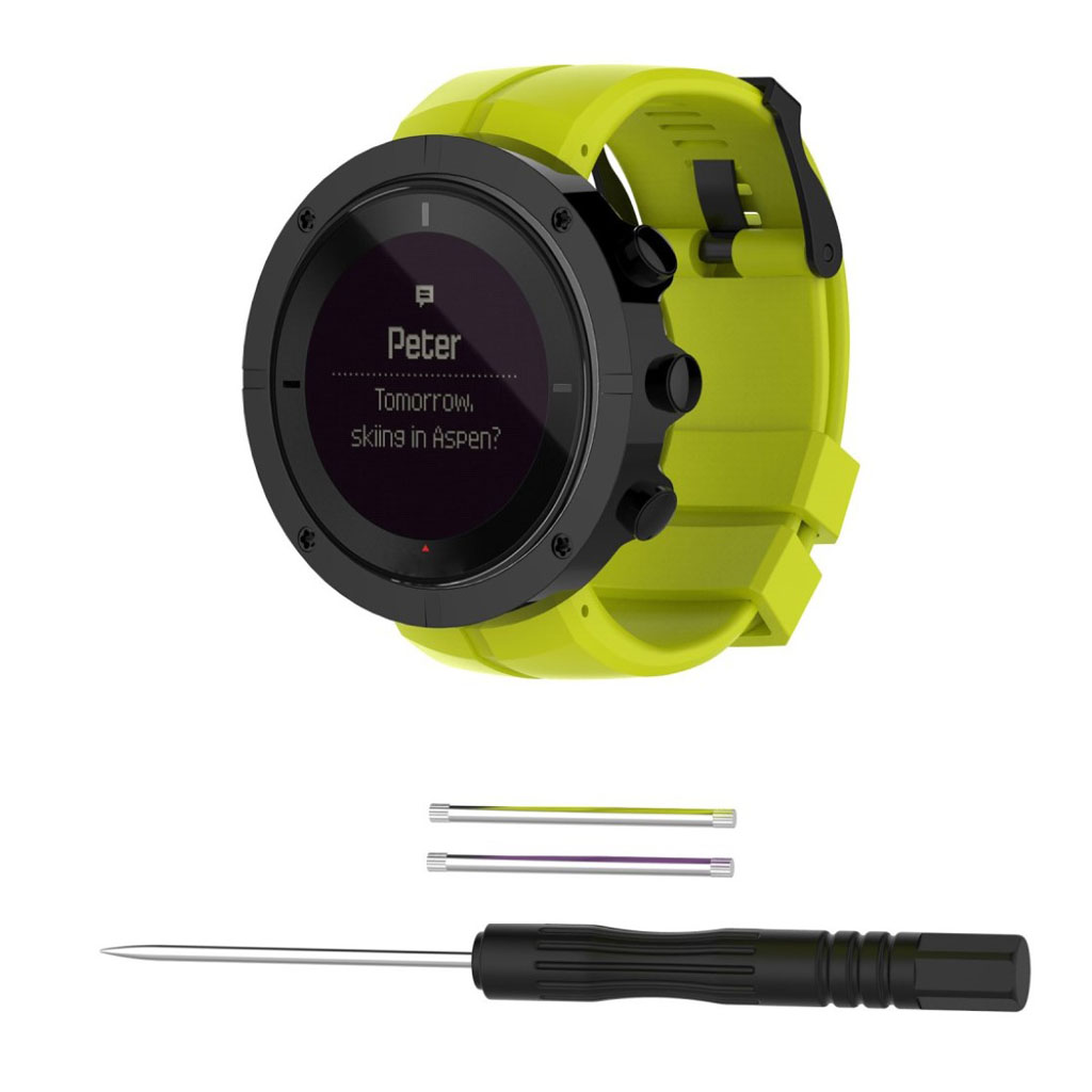 Image of   Suunto Kailash pin buckle silicone watchband - Green
