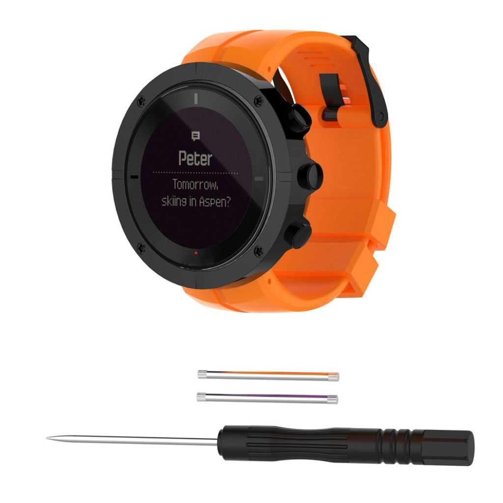 Image of   Suunto Kailash pin buckle silicone watchband - Orange