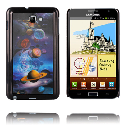 Image of   3D Effect (Planets) Samsung Galaxy Note Cover