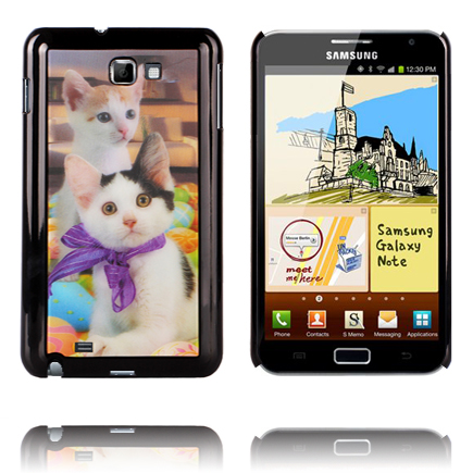 Image of   3D Effect (2 Kitties) Samsung Galaxy Note Cover