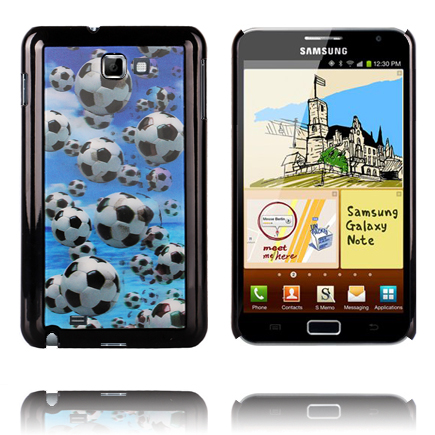 Image of   3D Effect (Footballs) Samsung Galaxy Note Cover