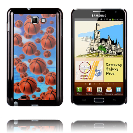 Image of   3D Effect (Basket Balls) Samsung Galaxy Note Cover