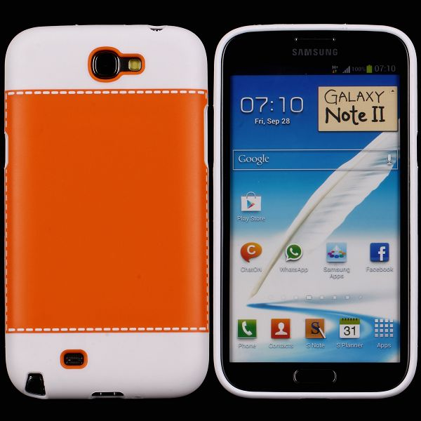 TailorMade Hvid (Orange) Samsung Galaxy Note 2 Cover