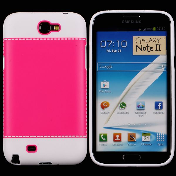 TailorMade Hvid (Rød) Samsung Galaxy Note 2 Cover