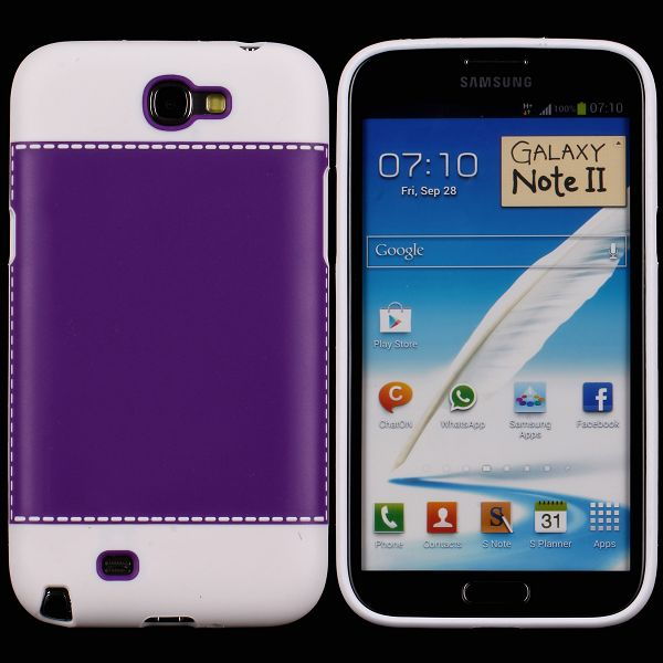 TailorMade Hvid (Lilla) Samsung Galaxy Note 2 Cover