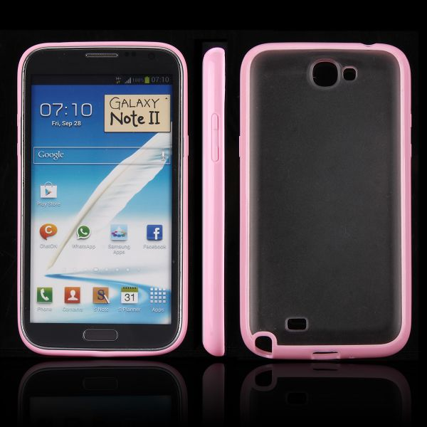 Frosty Ice Back (Lys Pink) Samsung Galaxy Note 2 Cover