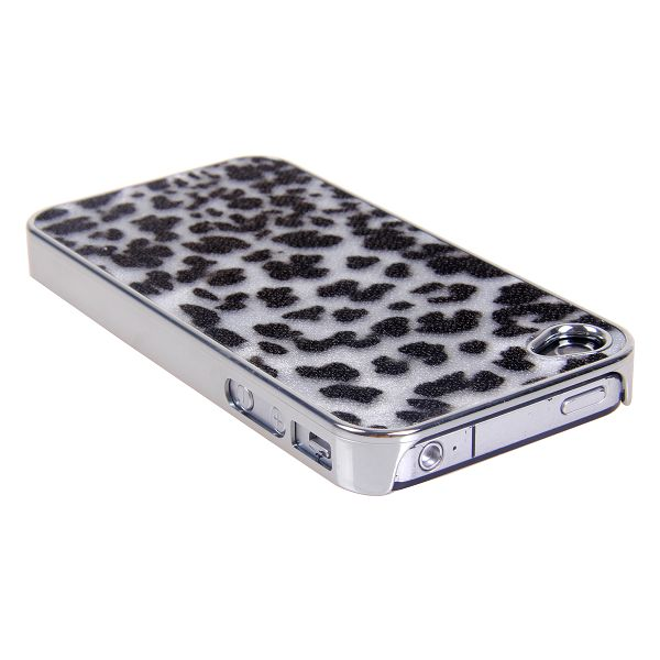 Image of   Leopard (Sort & Hvid) iPhone 4/4S Cover