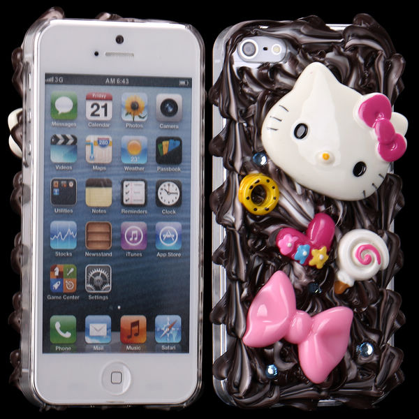 Image of   3D Cuties Ceramic (Butterfly og Killing) iPhone 5 Cover
