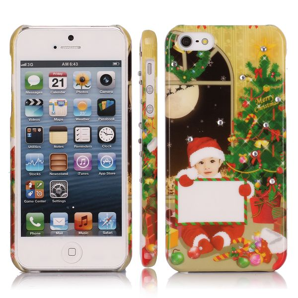 Merry Christmas Bling (Dreng - Juleaften) iPhone 5 Cover