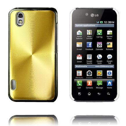 Image of   Aluminium Shield (Guld) LG Optimus Black Cover