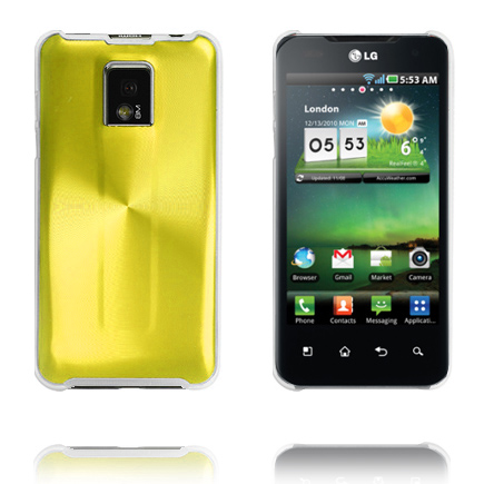 Image of   Aluminiums Shield (Guld) LG Optimus 2X P990 Cover