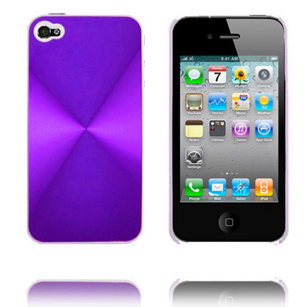 Image of   Aluminiums Shield (Lilla) iPhone 4 Cover
