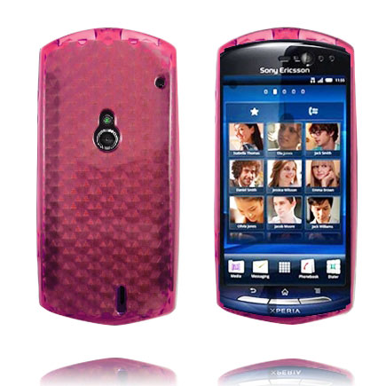 Image of   Cubes (Rød Salmon) Sony Ericsson Xperia Neo Cover