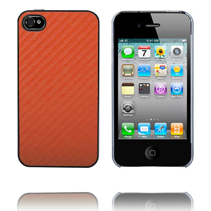 Carbon Clear Kant (Lysebrun) iPhone 4 cover