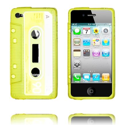Kassette Case Semi-Transparent (Gul) iPhone 4 Cover