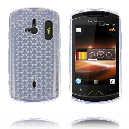 Image of   Cubes (Hvid) Sony Ericsson Live Cover