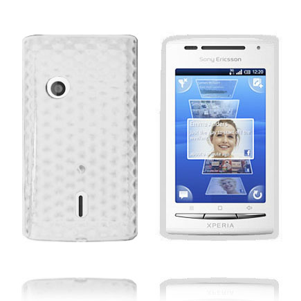 Image of   Cubes (Hvid) Sony Ericsson Xperia X8 Cover