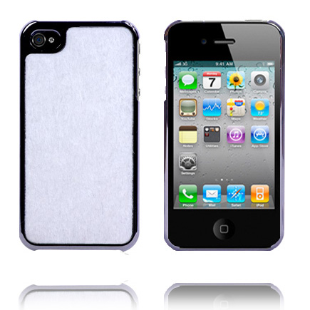 Furry Mode Electroplated (Hvid) iPhone 4 Cover