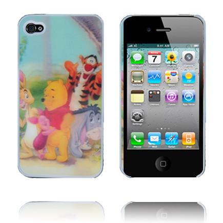 Image of   3D Hologram (Hug Piglet - Bear) iPhone 4 Cover