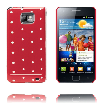 Prikker & Farver (Rød) Samsung Galaxy S 2 Cover