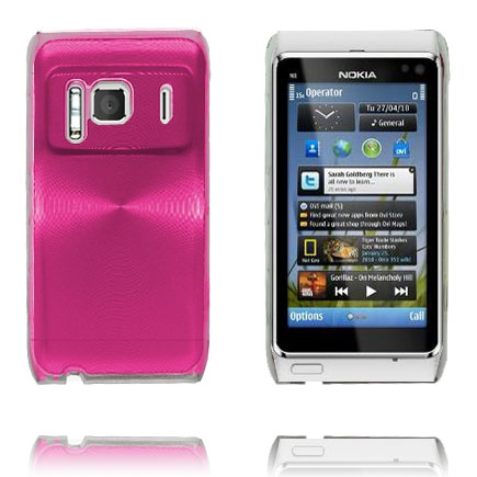Image of   Aluminium Shield Transparent Kant (Pink) Nokia N8 Cover