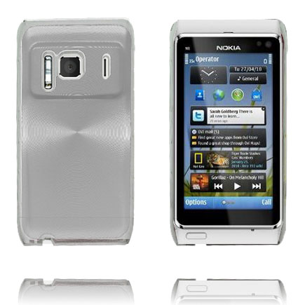 Image of   Aluminium Shield Transparent Kant (Sølv) Nokia N8 Cover