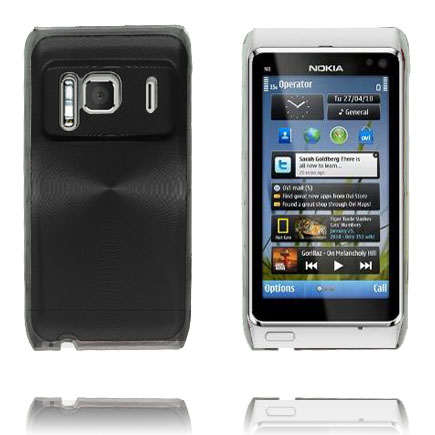 Image of   Aluminium Shield Transparent Kant (Sort) Nokia N8 Cover