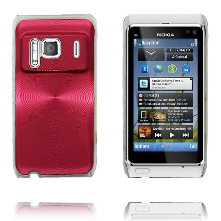 Image of   Aluminium Shield Transparent Kant (Rød) Nokia N8 Cover