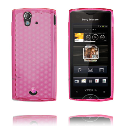 Image of   Cubes (Pink) Sony Ericsson Xperia Ray Cover