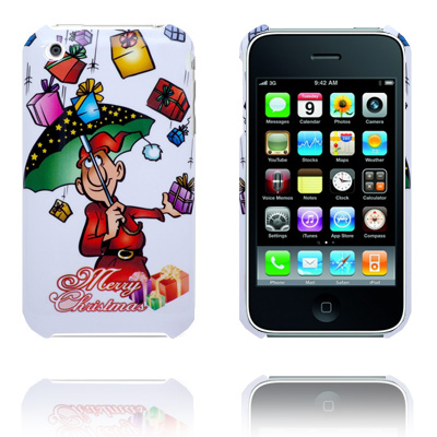 Merry Christmas (Regn) iPhone Cover til 3G/3GS