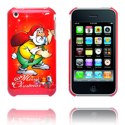 Merry Christmas (Gul) iPhone Cover til 3G/3GS