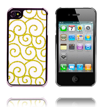 Storm Sort Chrome Kant (Guld) iPhone 4 Cover