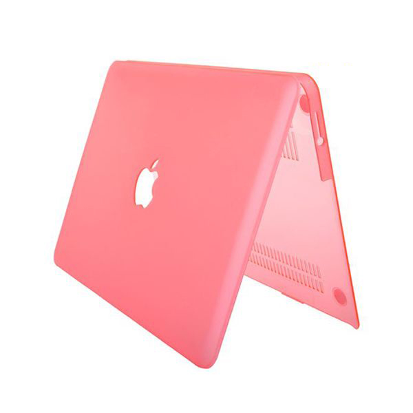 "Image of   Hard Shell Transparent (Pink) Macbook Air 13.3"" Cover"
