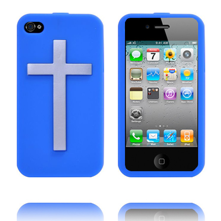 Jesus Rules (Blå) iPhone 4S Cover