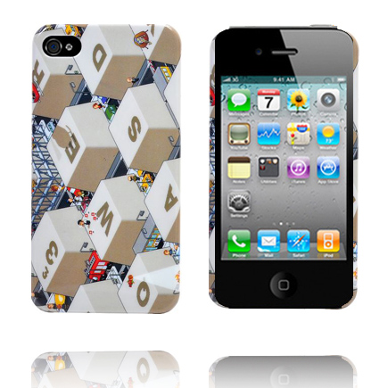 PC Keyboard iPhone 4S Cover (Hvid)