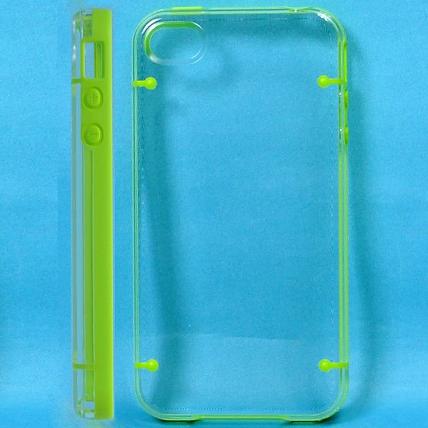 Dual Compound - Clear Back (Grøn) iPhone 4S Cover