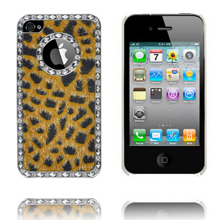 Leopard Bling (Gul) iPhone 4S Cover