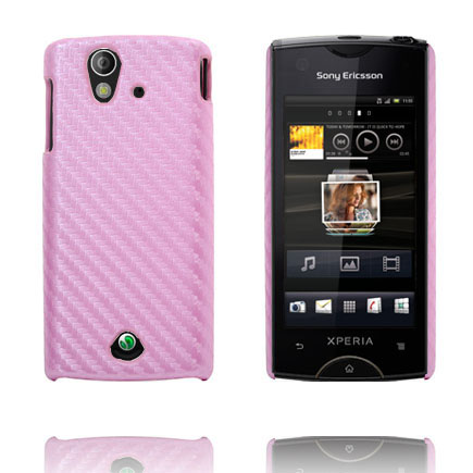 Image of   Carbonite (Lys Pink) Sony Ericsson Xperia Ray Cover