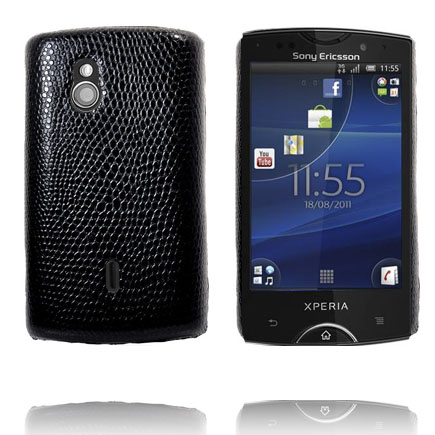 Image of   Croco (Sort) Sony Ericsson Xperia Mini Pro Cover