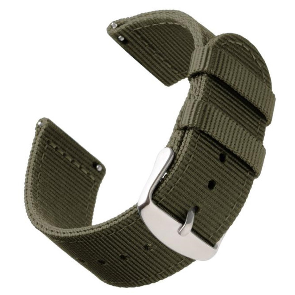 Bofink® Nordic Nylon Strap for Fossil Sport Womens (41mm) - Army