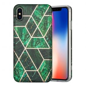 Marble iPhone Xs Max cover - grøn