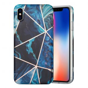 Marble iPhone Xs Max cover - blå