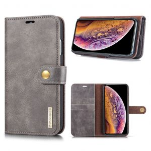 DG.Ming iPhone Xs Max 2-in-1 Pung Etui - Grå