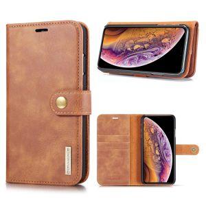 DG.Ming iPhone Xs Max 2-in-1 Pung Etui - Brun