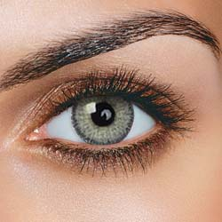 FreshTone farvede kontaktlinser uden styrke - Satin Gray