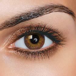 FreshTone farvede kontaktlinser uden styrke - Brown