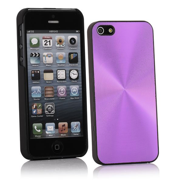 Image of   Alu CD-Lines (Lilla) iPhone 5 Cover