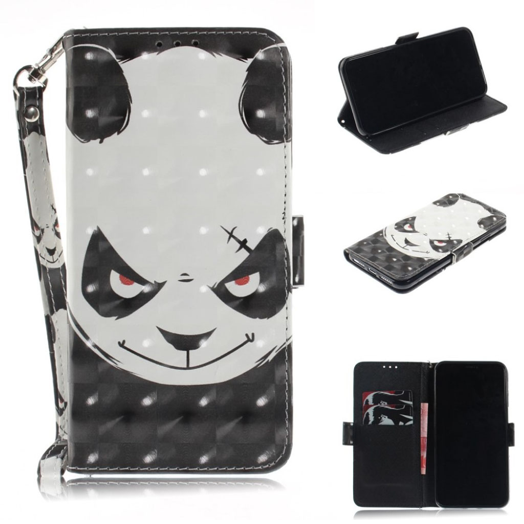 5487bf96 iPhone Xs Max light spot patterned flip case - Angry Panda