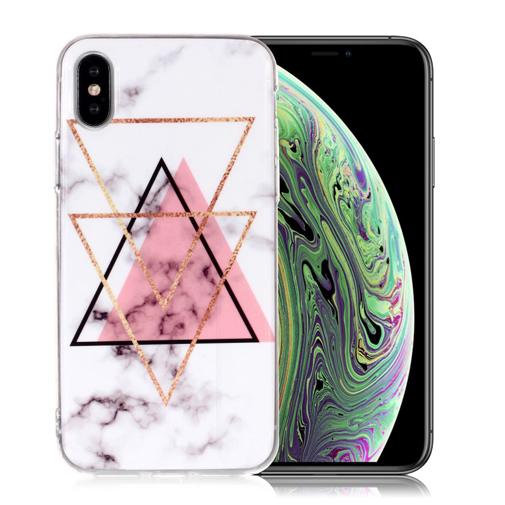 iPhone XS marble pattern soft case - Style A